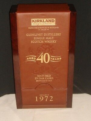 The Glenlivet 40, 1972 Single Malt Scotch Whiskey CONTAINER/BOX Only!