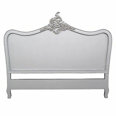 Silver Louis XV Vintage Style French Headboard (Double, King)