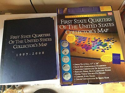 States Quarter Set Complete DeHi Phila In Folder Nr Statehood - First state quarters of the us collectors map