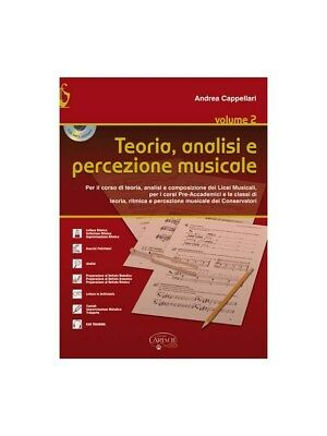 Andrea Cappellari Teoria, Analisi E Percezione Musicale CD MUSIC BOOK & CD