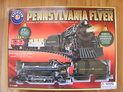 LIONEL Pennsylvania Flyer G Gauge Train Set 7-11685 Battery Powered New in Box