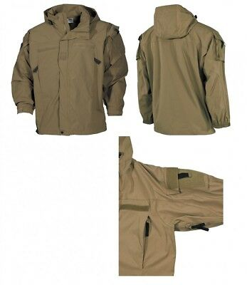 MFH TACTICAL SOFTSHELLJACKE coyote Soft Shell Outdoor-Jacke GEN III Level 5