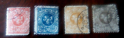 LITUANIE 1919 lot 4 timbres N°30-32-33-34