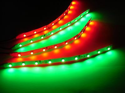 """RC Green and Red Underbody glow LED Strip Lights Superbright FPV Quadcopter 6"""""""
