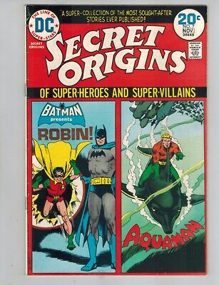 Secret Origins 7  Robin and Aquaman!  VF 1974