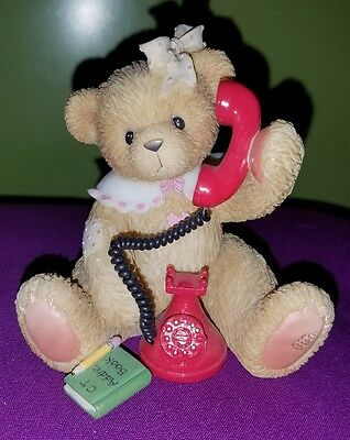 Cherished Teddies Doris, I just called to Say i Love you, sitting, red phone