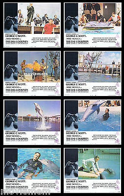 DAY OF THE DOLPHIN Rare LOBBY CARD SET George C.Scott Mike Nichols