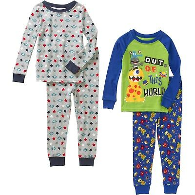Toddler Boys 4pc Mix & Match Pajama's Set New with Tags Sz 4T Comfy! Cotton Kids