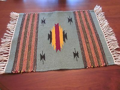 Small Indian Inspired Rug or Throw