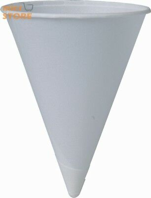 200 Piece Cone shaped Water Cups Disposable Cup Cold Drink Paper White 4 oz NEW