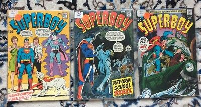 Lot of 3 SUPERBOY Books by DC Comics  162,163,164   1970    VF to VF+