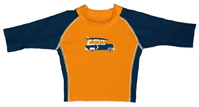 I Play Boys swimshirt Orange/Blue UV Protection 50+ sz. 0-6, 24-36 Months