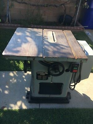Delta Unisaw Table Saw  No 34-802F 3HP 1PH