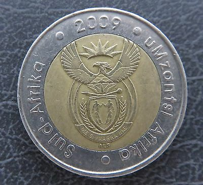 South African 5 Rand Coin 2009  with Wildebeest Bi-metallic Circulated