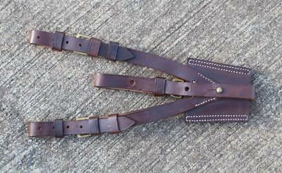British Military WWI Repro Army Officers Sword Leather Frog for Sam Browne Belt