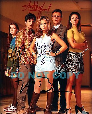REPRINT RP 8x10 Signed Autographed Photo: Buffy The Vampire Cast