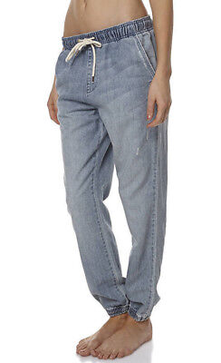 """New + Tags Billabong """"drifters"""" Womens Size 14 / 32"""" Jogger Jeans Vintage Fade"""