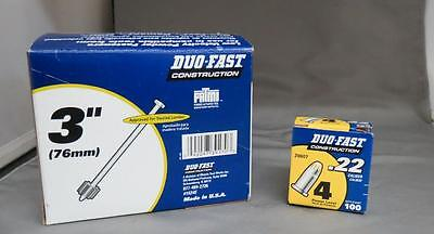 """Duo-Fast Construction 3"""" Low Velocity Powder Fasteners & .22 Caliber 4 Power"""