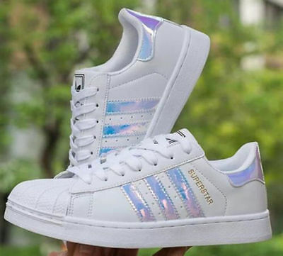 New Leather Casual Lace Up Sneakers Trainer Shoes Superstar For Mens Women's
