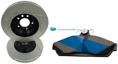 Slotted Dimpled Front Brake Rotors + Bendix Pads Ford Falcon BA BF FG 6 Cyl