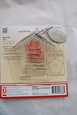 Sew Easy Patchwork 8 Mini Pentagons Template Set 3/4- 3 inch  FREE POST