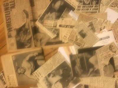 wresting memorabilia with vintage scrapbook material &hand written records