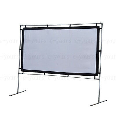 """60-150"""" Portable Projection Screen&Stand Fixed Frame for Outdoor Movie Projector"""