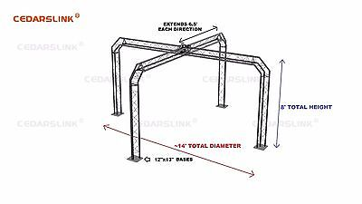 Trade Show Booth, Trusses DJ Stage 14' X 14' X 8' Metal Truss Triangle Trusses
