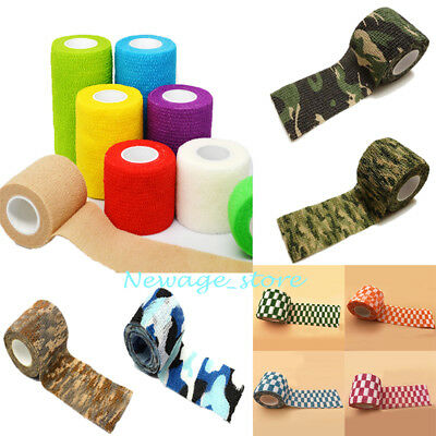 LOTS HOT!!Nonwoven Self-adhesive Bandage Elastic Gauze Sport First Aid Wrap Tape