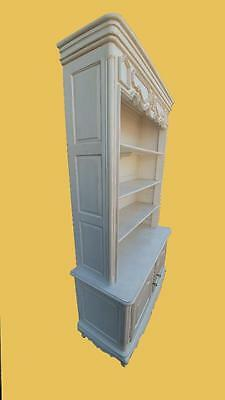 Painted French Design Open Bookcase Cabinet