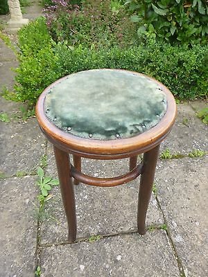 Bentwood stool with velvet seat