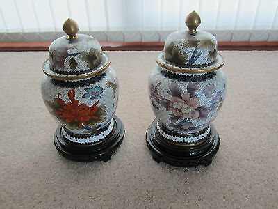 Chinese Cloisonne Temple Jar Flowers 10In Height