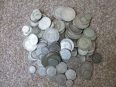 large qty good graded british silver coins