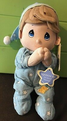 PRECIOUS MOMENTS Baby Boy Prayer Pal Boy Plush Bedtime Prayer