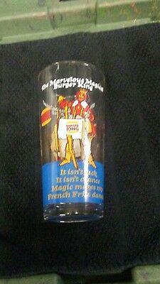 Burger King (C) 1978 Marvelous Magical RARE French Fries Glass