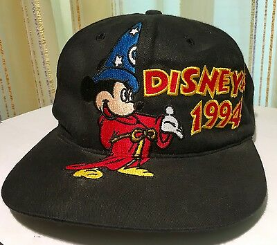 Disneyana Convention 1994 Baseball Cap Mickey Mouse Schwarz Neu Ungetragen