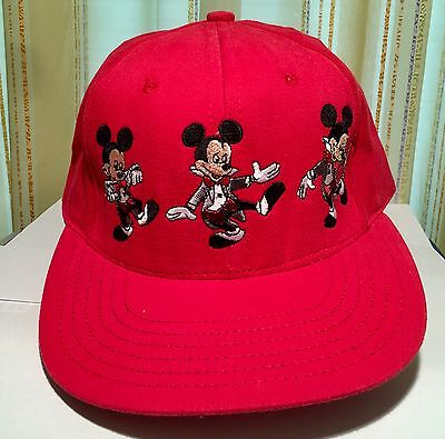 Disneyana Convention 1995 Baseball Cap Mickey Mouse Rot Neu Ungetragen