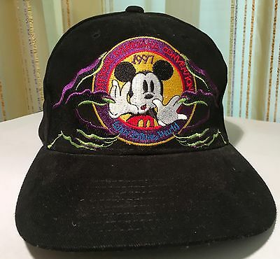 Disneyana Convention 1997 Baseball Cap Mickey Mouse Schwarz Neu Ungetragen