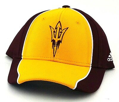 e831b505 ... spain arizona state sun devils asu new adidas maroon gold flex era  fitted hat cap s
