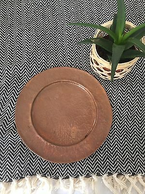 Vintage Copper Plate/dish. Hammered Effect.