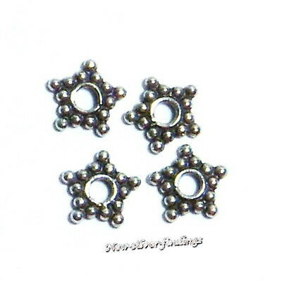 5 Sterling Silver 8mm Spacer Bead Oxidized Stacked Daisy Bali Wholesal bb-b21-5
