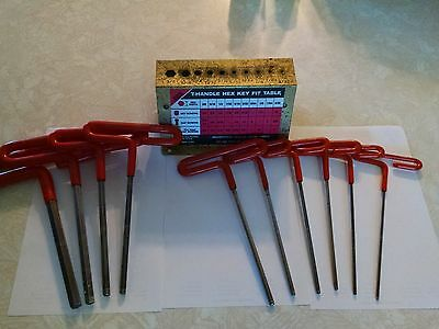 T-Handle Hex Wrench set w/stand,10 pc Eklind