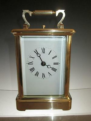 Large English Charles Frodsham Brass  Repeater Carriage Clock (Serviced)