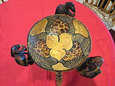 Outstanding Handmade African Stand with Bowl on a Wood Tripod