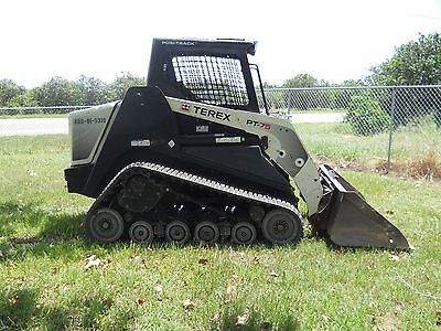 2014 Terex PT75 High Flow Skid Steer Track Loader, Trailer, rake, forks, go with