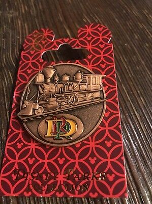 DISNEY DLR DISNEYLAND RAILROAD DRR Logo Pin