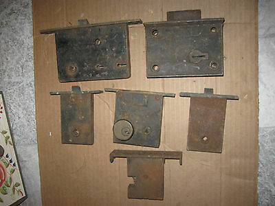 Antique Mortise Door Locks And Latches Lot Of 6 AS IS