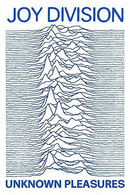 Joy Division Poster Unknown Pleasures BLUE High Quality Archival Print 16x24""