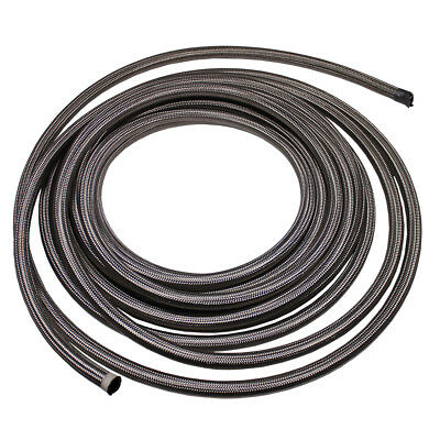 15 Feet -8 AN Nylon Stainless Steel Braided Fuel Gas Oil Line Hose AN8 Silver