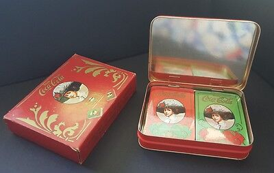Vintage Coca Cola Playing Cards in Tin, still in package